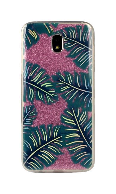 Pouzdro TopQ Samsung J5 2017 glitter tropical 25659 (kryt neboli obal na mobil Samsung J5 2017 J530F)