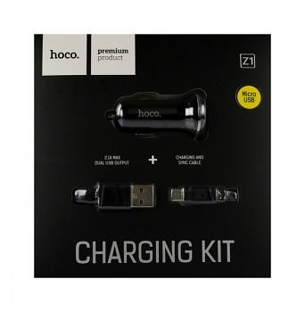 Nabíječka do auta HOCO Z1 micro USB Dual 2.1A černá