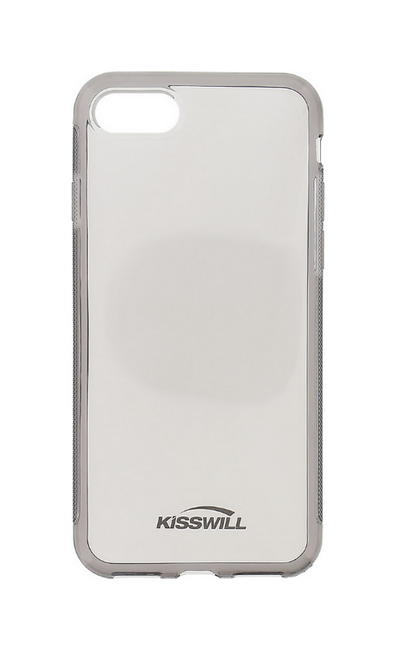 Pouzdro KISSWILL iPhone 8 silikon tmavý 25713 (kryt neboli obal na iPhone 8)
