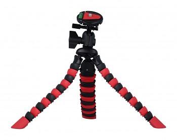 Stativ pro mobilní telefon flexibilní červeno-černý