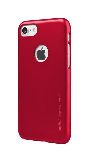 Pouzdro Mercury iJelly iPhone 7 silikon červený 25965 (kryt neboli obal na iPhone 7)