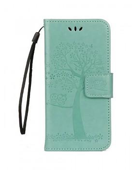 Knížkové pouzdro na Huawei P10 Lite zelený strom sovičky