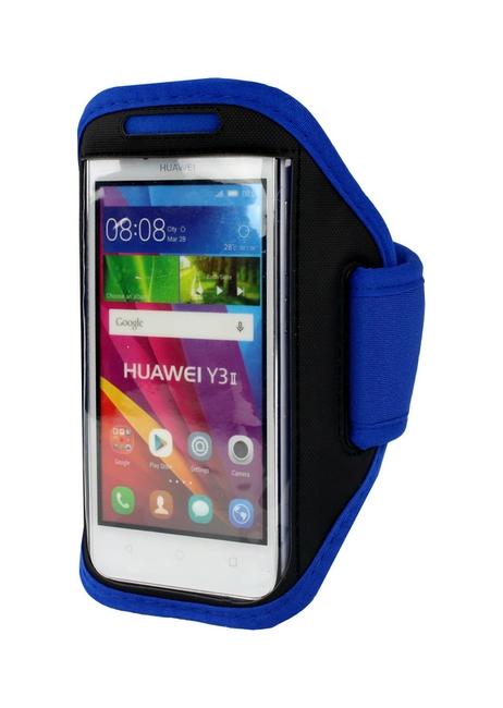 Pouzdro na ruku TopQ velikost M obvod 23 - 38 cm modré 26185 (sportovní obal na ruku velikost M)