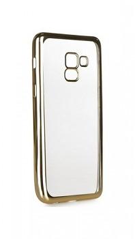 Zadní silikonový kryt Forcell Electro Jelly na Samsung A8 Plus 2018 zlatý