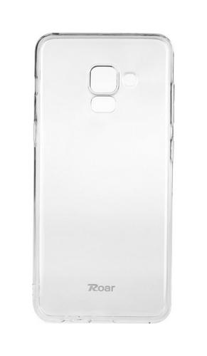 Zadní silikonový kryt Roar na Samsung A8 Plus 2018 průhledný