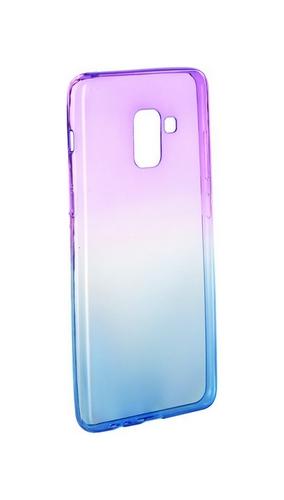 Zadní silikonový kryt Forcell na Samsung A8 Plus 2018 duhový fialový