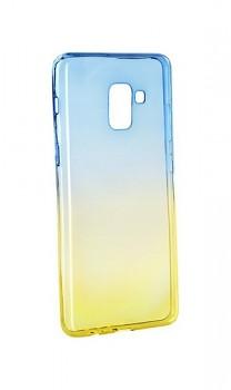 Zadní silikonový kryt Forcell na Samsung A8 Plus 2018 duhový modrý