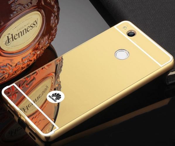 Pouzdro TopQ Huawei P9 Lite 2017 pevné zrcátkové zlaté VADA 26260 (kryt neboli obal na mobil Huawei P9 Lite 2017)