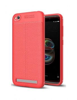 Zadní silikonový kryt na Xiaomi Redmi 5A Leather červený