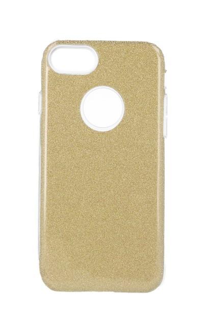 Pouzdro Forcell iPhone 8 glitter zlaté 27291 (kryt neboli obal na mobil iPhone 8)