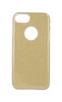 Zadní pevný kryt Forcell na iPhone 8 glitter zlatý
