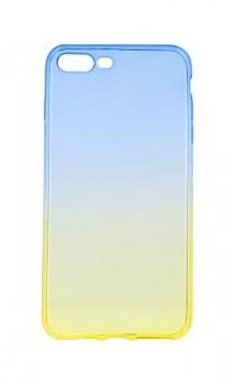Zadní silikonový kryt Forcell na iPhone 8 Plus duhový modrý