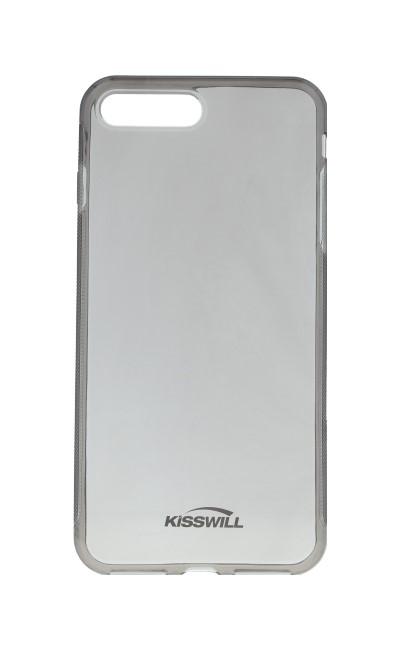 Pouzdro KISSWILL iPhone 7 Plus silikon tmavý 27319 (kryt neboli obal na mobil iPhone 7 Plus)
