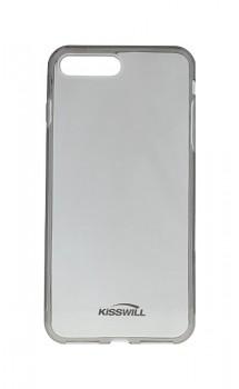 Zadní silikonový kryt KISSWILL na iPhone 7 Plus tmavý