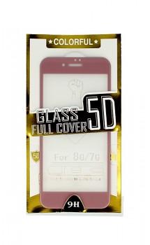 Polykarbonátová ochrana displeje BestGlass na iPhone 8 5D růžová