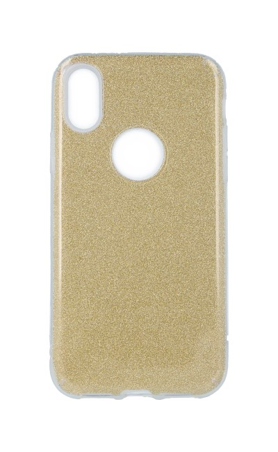 Pouzdro Forcell iPhone X glitter zlaté 27770 (kryt neboli obal na mobil iPhone X)