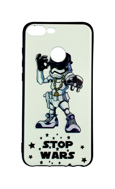 Pouzdro TopQ Honor 9 Lite 3D silikon Stormtrooper 28097 (kryt neboli obal na mobil Honor 9 Lite)