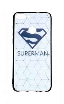 Zadní 3D silikonový kryt na Huawei P Smart bílý Superman