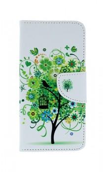 Knížkové pouzdro na Honor 9 Lite bílé se stromem
