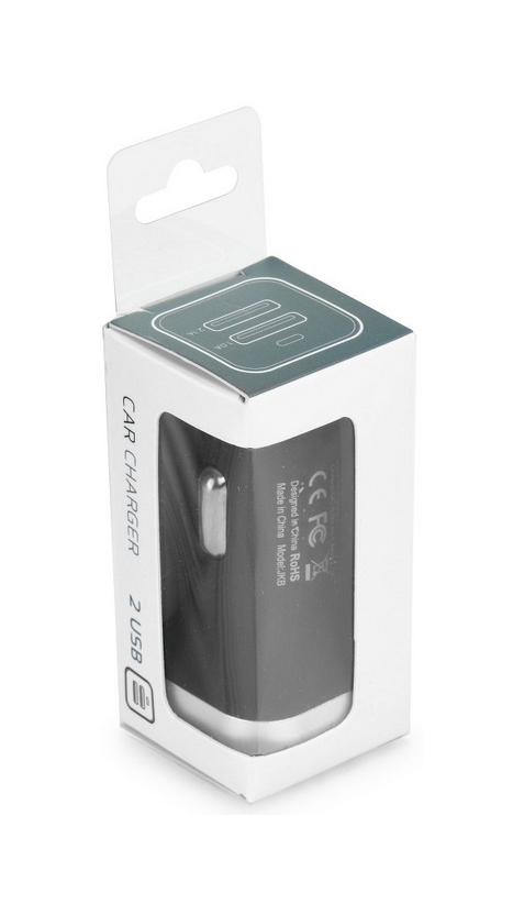 Autodobíječ TopQ USB Dual 3.1 A černý 28318