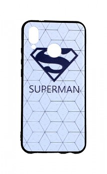 Zadní 3D silikonový kryt na Huawei P20 Lite bílý Superman