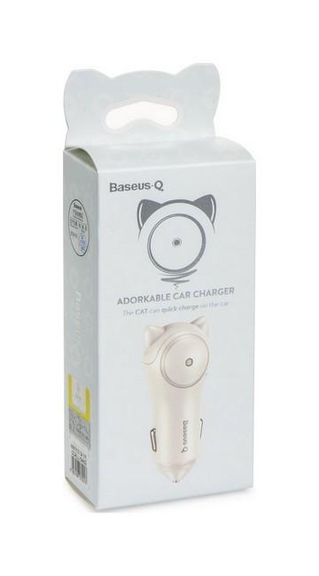 Autodobíječ Baseus Adorkable Dual 3A bílý 29258