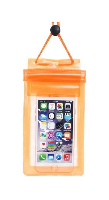 Univerzální vodotěsné pouzdro na mobil ETUI Soft oranžové 29644