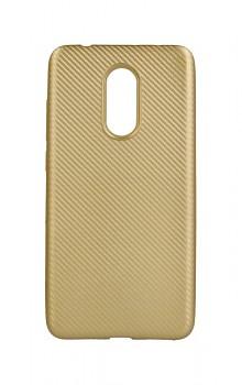 Zadní silikonový kryt na Xiaomi Redmi 5 Carbon zlatý