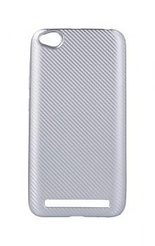 Zadní silikonový kryt na Xiaomi Redmi 5A Carbon stříbrný