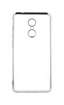 Zadní silikonový kryt na Xiaomi Redmi 5 Frame stříbrný