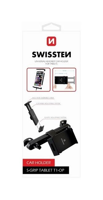 Držák na tablet do auta Swissten S-Grip T1-OP na opěrku hlavy černý 30306