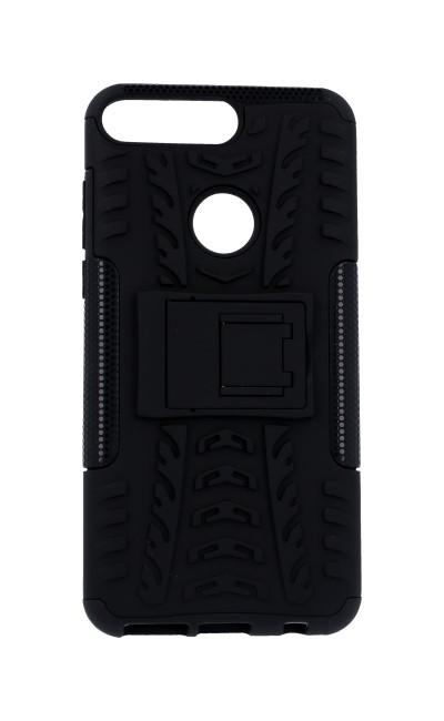 Pouzdro TopQ Huawei Y7 Prime 2018 černé se stojánkem 30437 (kryt neboli obal na mobil Huawei Y7 Prime 2018)