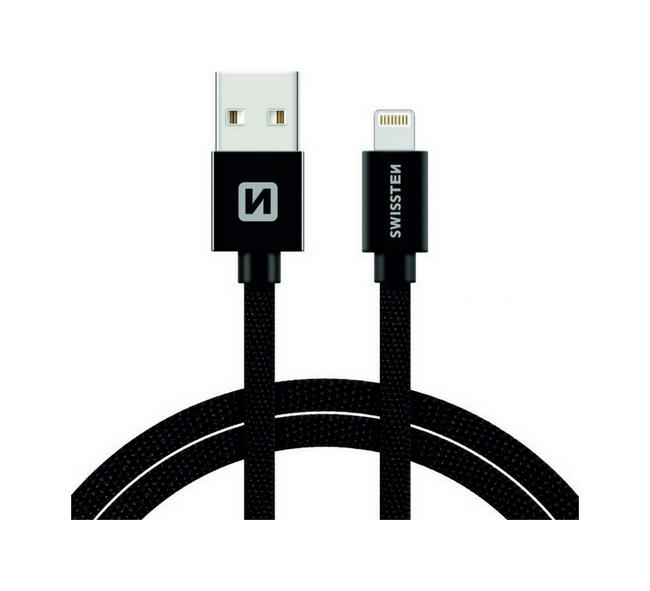 Datový kabel Swissten Lightning pro iPhone 2m černý 30508