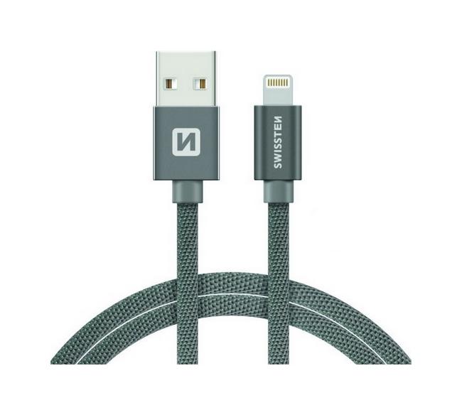 Datový kabel Swissten Lightning pro iPhone 2m šedý 30510