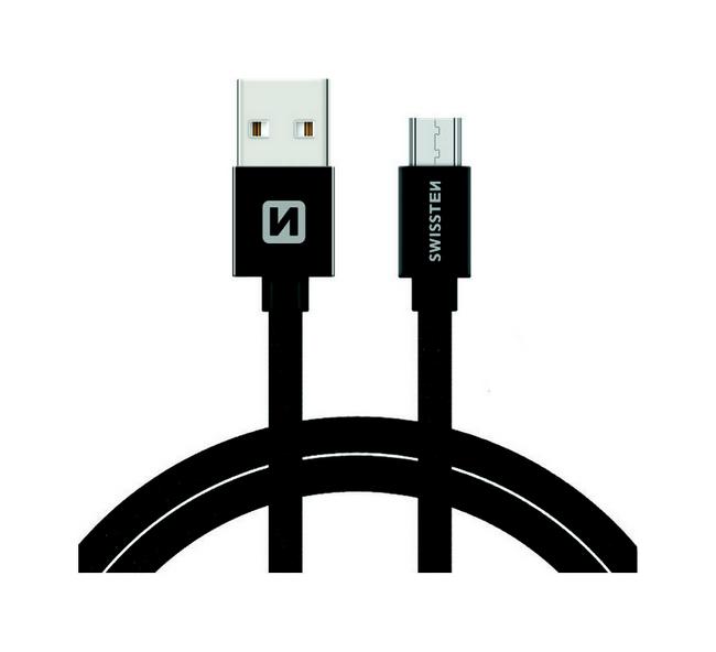 Datový kabel Swissten microUSB 1,2m černý 30639