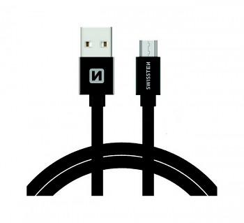 Datový kabel Swissten microUSB 1,2m černý