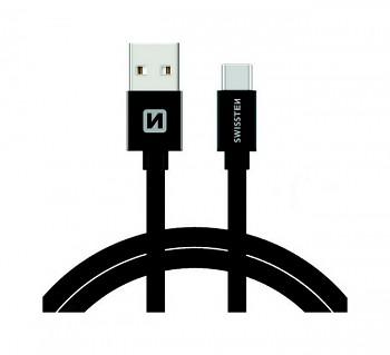 Datový kabel Swissten USB-C (Type-C) 1,2m černý