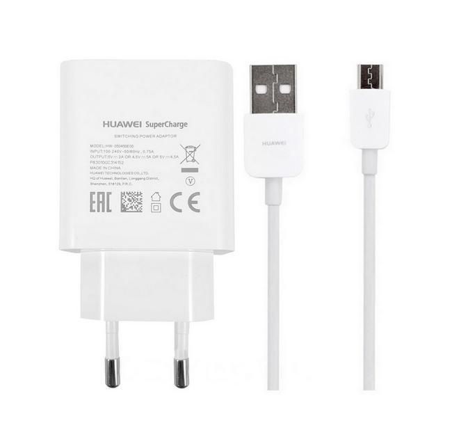 Originální rychlonabíječka Huawei HW-050450W00 + micro USB datový kabel 4.5A bílá 31806