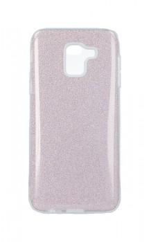 Zadní pevný kryt Forcell na Samsung J6 glitter růžový