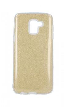 Zadní pevný kryt Forcell na Samsung J6 glitter zlatý