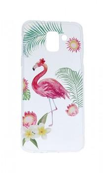 Zadní silikonový kryt na Samsung J6 Summer Flamingo