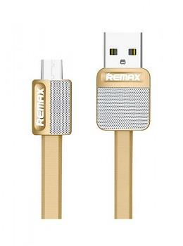 Datový kabel Remax Metal microUSB 1m zlatý