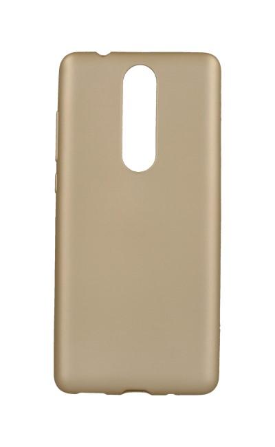 Pouzdro Jelly Flash Nokia 5.1 silikon zlaté matné 32296 (kryt neboli obal na mobil Nokia 5.1)