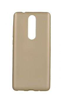 Zadní silikonový kryt Jelly Flash na Nokia 5.1 zlatý matný