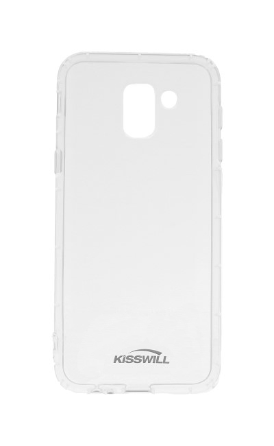 Pouzdro KISSWILL Samsung J6 silikon průhledný 32474 (kryt neboli obal na Samsung J6)