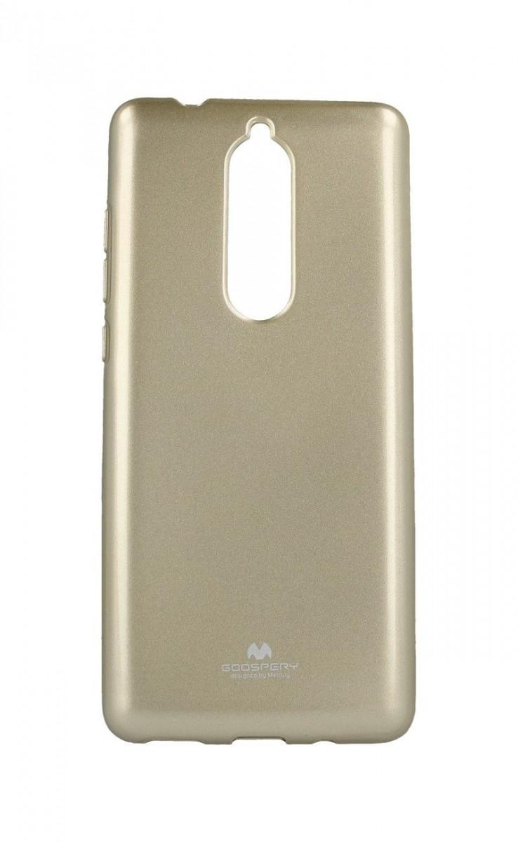 Pouzdro Mercury Nokia 5.1 silikon zlatý 33274 (kryt neboli obal na mobil Nokia 5.1)