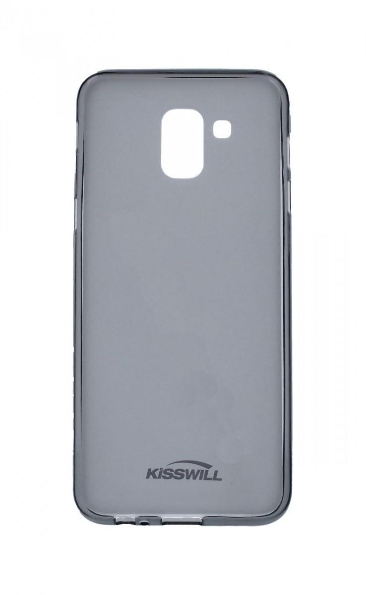 Pouzdro KISSWILL Samsung J6 silikon tmavý 33327 (kryt neboli obal na mobil Samsung J6 J600F)