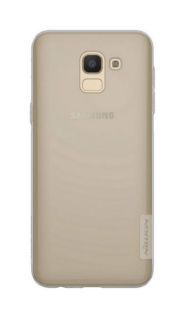 Pouzdro Nillkin Samsung J6 silikonové tmavé 33353 (kryt neboli obal na mobil Samsung J6)