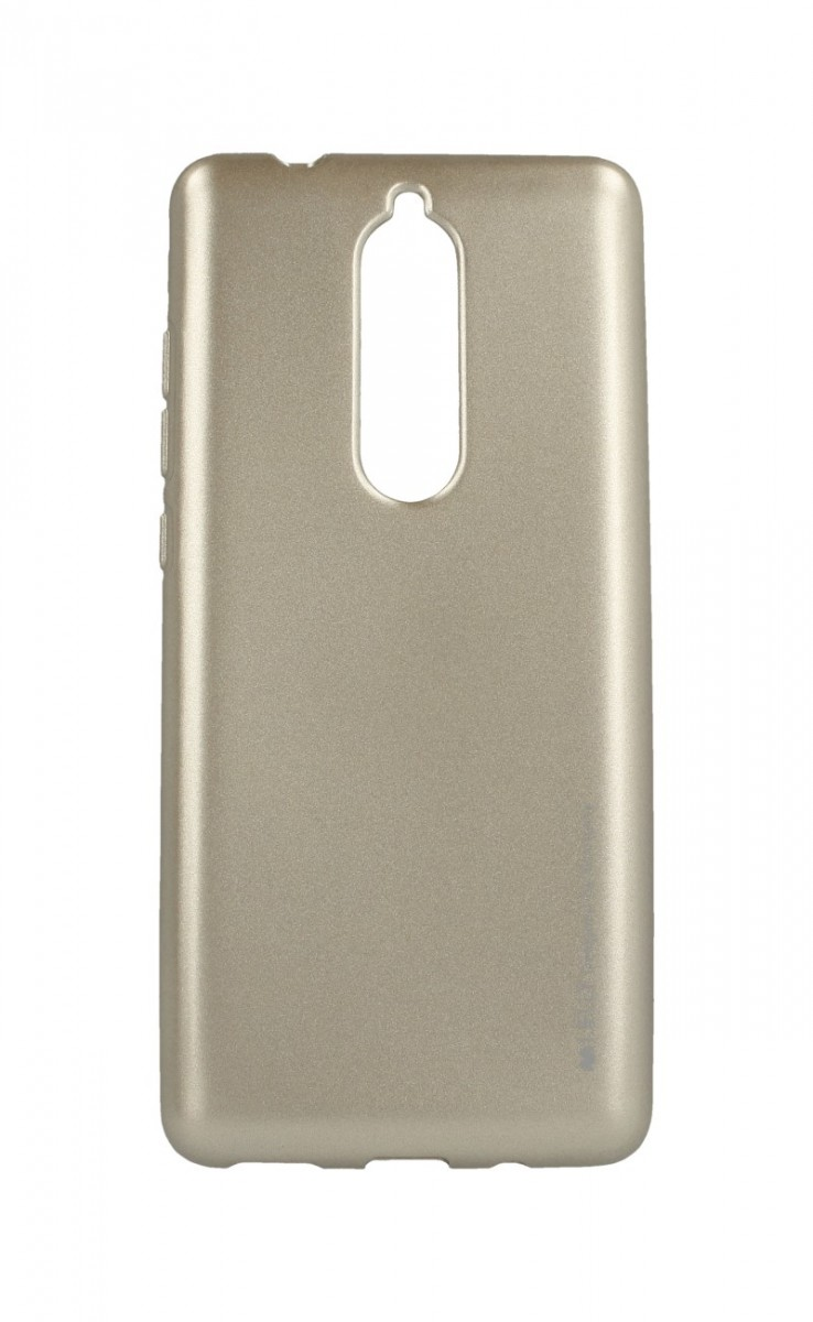 Pouzdro Mercury iJelly Nokia 5.1 silikon zlatý 33489 (kryt neboli obal na Nokia 5.1)