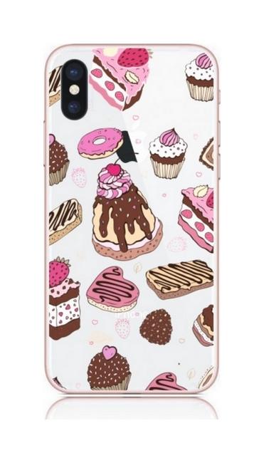 Pouzdro TopQ iPhone XS pevné Desserts 33625 (kryt neboli obal na mobil iPhone XS)